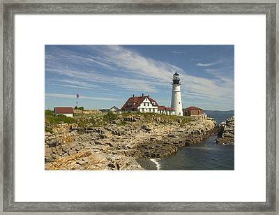 Portland Head Lighthouse Framed Print by Mike McGlothlen