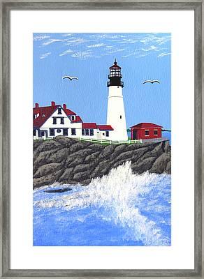 Portland Head Lighthouse Painting Framed Print by Frederic Kohli