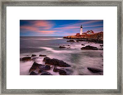 Portland Head Lighthouse Framed Print by Rick Berk