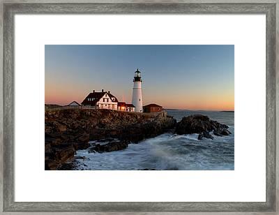Portland Head Lighthouse Sunrise Framed Print