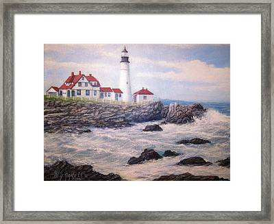 Portland Head Lighthouse Framed Print by William H RaVell III