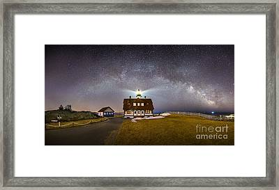 Portland Head Under The Milky Way Framed Print by Benjamin Williamson