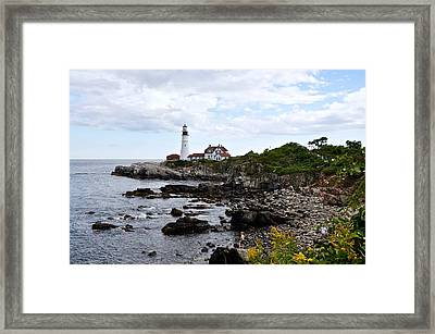 Portland Headlight II Framed Print