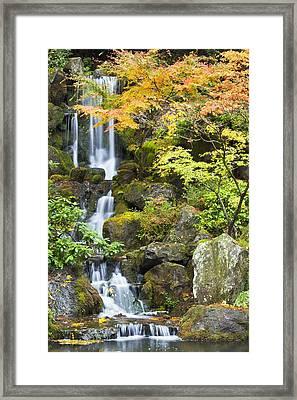 Portland Japanese Garden, Portland Framed Print