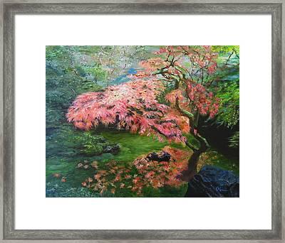 Portland Japanese Maple Framed Print by LaVonne Hand