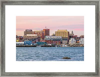 Portland Maine Skyline Framed Print by Benjamin Williamson