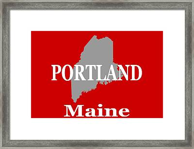 Framed Print featuring the photograph Portland Maine State City And Town Pride  by Keith Webber Jr