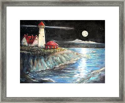 Portland Maine Twilight Framed Print