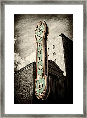 Portland Marquis Framed Print