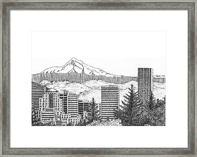 Portland-mt. Hood Framed Print