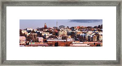 Portland Munjoy Hill Panorama Framed Print by Eric Gendron