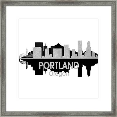 Portland Or 4 Squared Framed Print by Angelina Vick