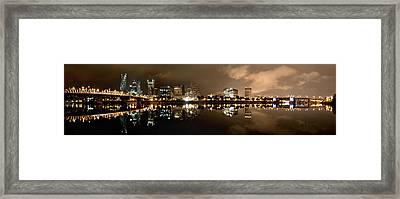 Portland Panorama Framed Print