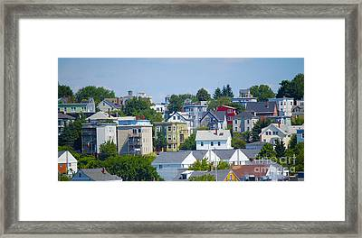 Portland Rooftops Framed Print by Faith Harron Boudreau