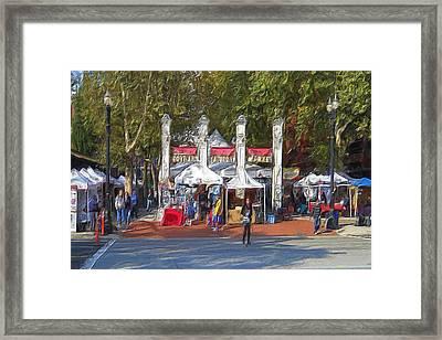 Portland Saturday Market Framed Print