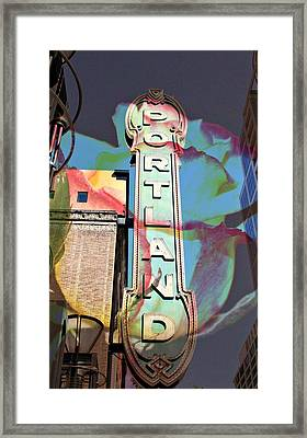 Portland Sign Framed Print by Cathie Tyler