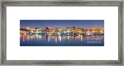Portland Skyline Panorama Framed Print by Benjamin Williamson