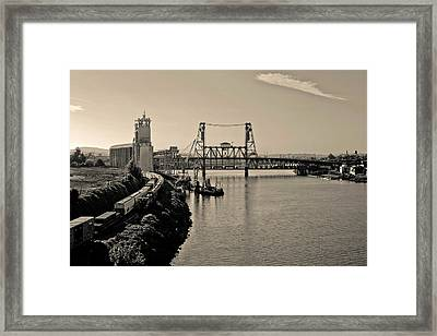 Portland Steel Bridge Framed Print