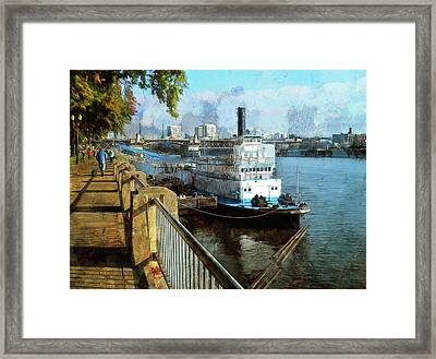 Portland Sunday Walk Framed Print
