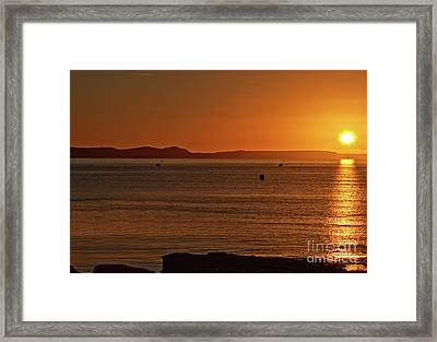 Framed Print featuring the photograph Portland Sunrise by Baggieoldboy