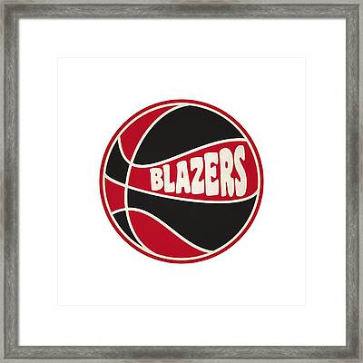 Portland Trail Blazers Retro Shirt Framed Print