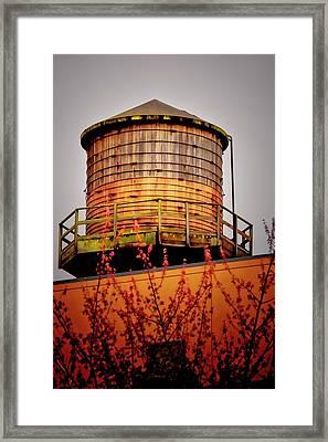 Portland Water Tower IIi Framed Print by Albert Seger