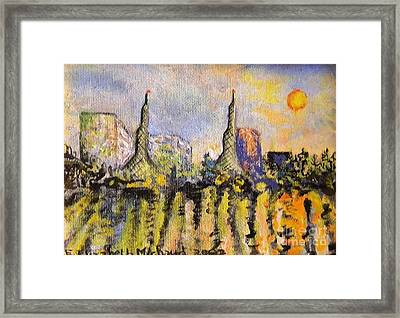 Portland Waterfront Morning Framed Print by Emily Michaud