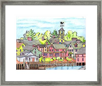 Portmouth Nh Harbor Framed Print