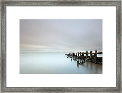 Framed Print featuring the photograph Portobello Sea Groynes by Grant Glendinning