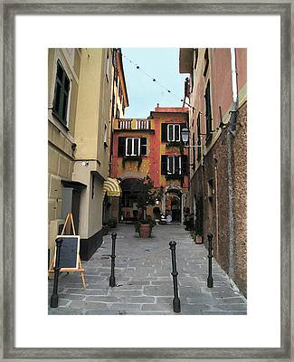 Portofino Alley Framed Print by Paul Barlo