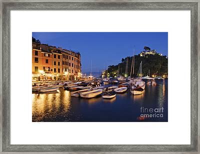 Portofino At Dusk Framed Print by Jeremy Woodhouse
