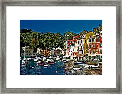 Portofino Bay Italy Framed Print by Allan Einhorn