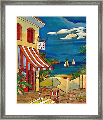 Portofino Cafe Framed Print by Paul Brent