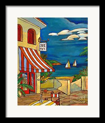Portofino Cafe Framed Prints