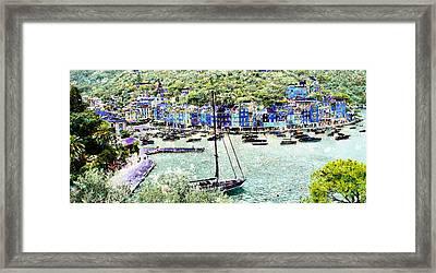 Portofino Framed Print by Frank Tschakert
