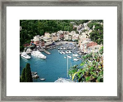 Portofino Harbor Framed Print by Paul Barlo