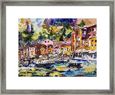 Portofino Italy Bella Italia Framed Print by Ginette Callaway
