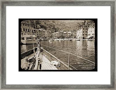 Portofino Italy From Solway Maid Framed Print by Dustin K Ryan
