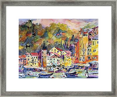Portofino Italy Framed Print by Ginette Callaway