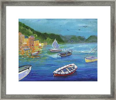 Framed Print featuring the painting Portofino, Italy by Jamie Frier