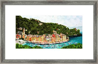 Portofino, Italy Framed Print by Mary Grden's Baywood Gallery