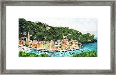 Portofino, Italy Prints From Myoriginal Oil Painting Framed Print