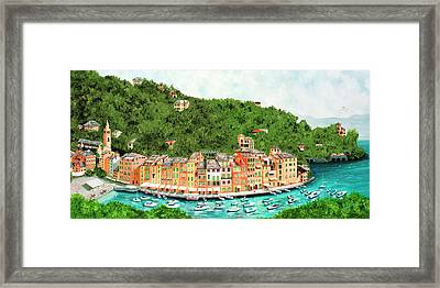 Portofino, Italy Prints From Original Oil Painting Framed Print