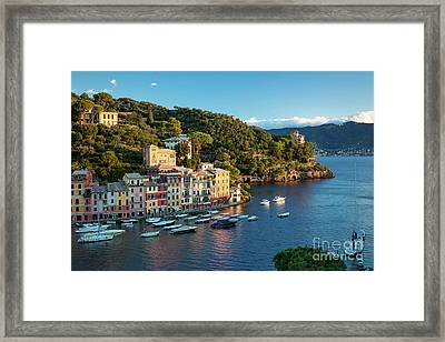 Portofino Morning Framed Print by Brian Jannsen
