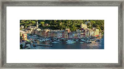 Framed Print featuring the photograph Portofino Morning Panoramic II by Brian Jannsen