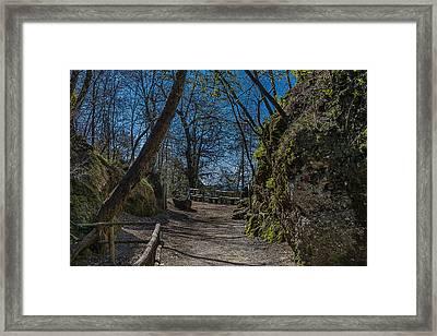 Portofino Mount Hiking Itinerary Pass Framed Print by Enrico Pelos
