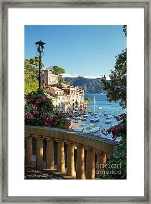 Portofino Overlook Framed Print by Brian Jannsen