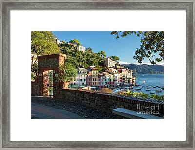 Portofino Overlook II Framed Print by Brian Jannsen