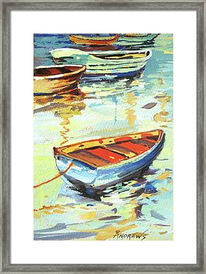 Portofino Passage Framed Print by Rae Andrews