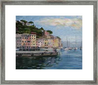 Portofino Port Framed Print by Jay Johnson